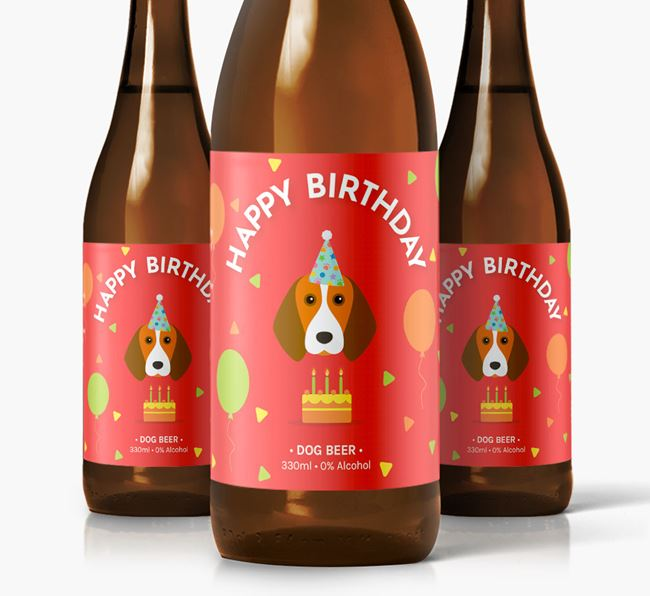 Beagle Birthday Dog Beer