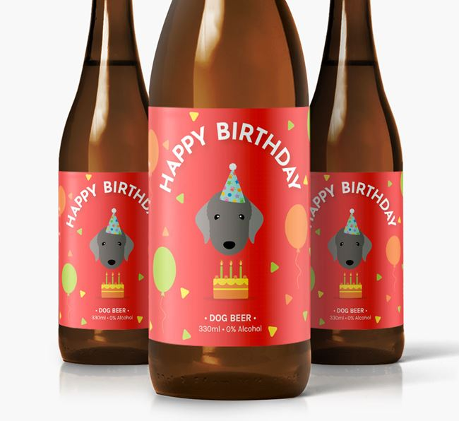 Bedlington Birthday Dog Beer