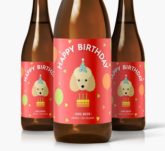 Toy Poodle Birthday Dog Beer