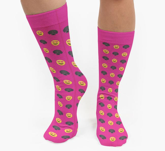 'Heart Eyes' Pattern Socks with German Shorthaired Pointer Icon