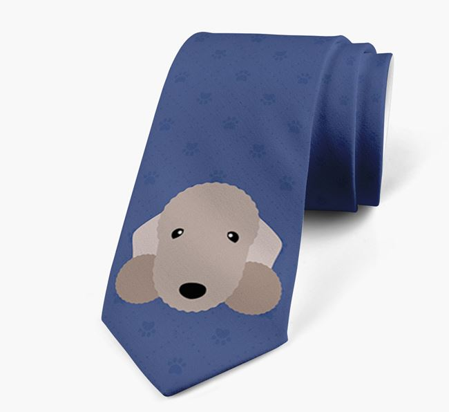 Human Tie with Bedlington Terrier Yappicon