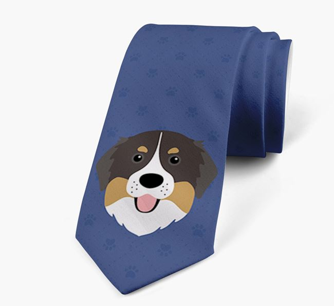 Human Tie with Bernese Mountain Dog Yappicon
