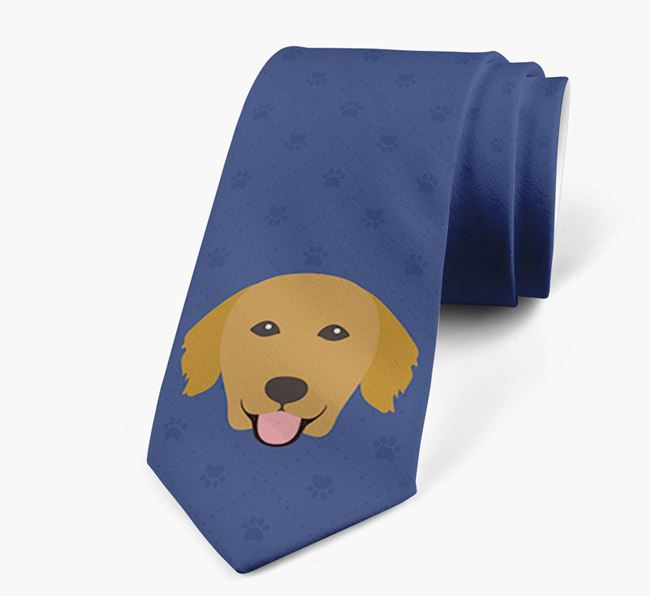 Human Tie with Golden Retriever Yappicon