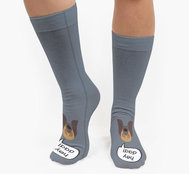 'Hey Dad!' Socks with Bloodhound Icon