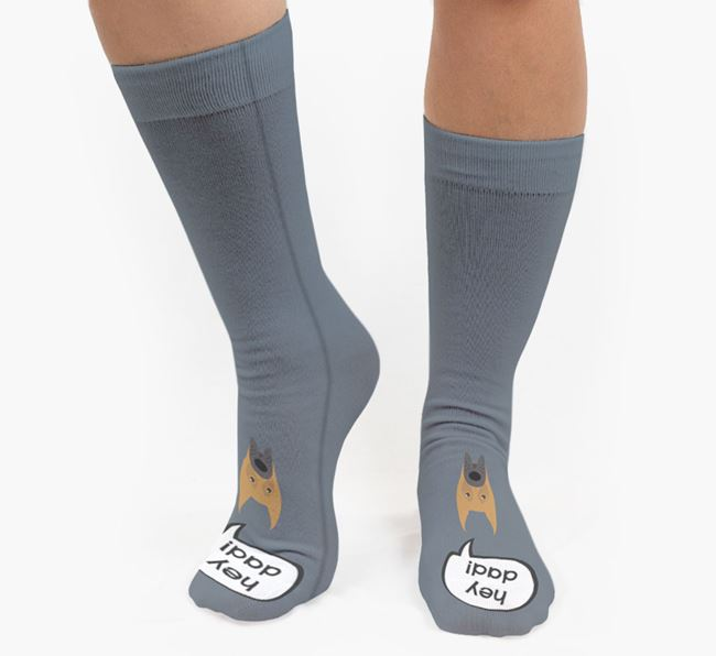 'Hey Dad!' Socks with Great Dane Icon