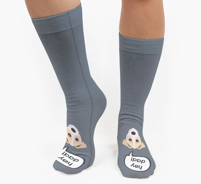 'Hey Dad!' Socks with Jack-A-Poo Icon