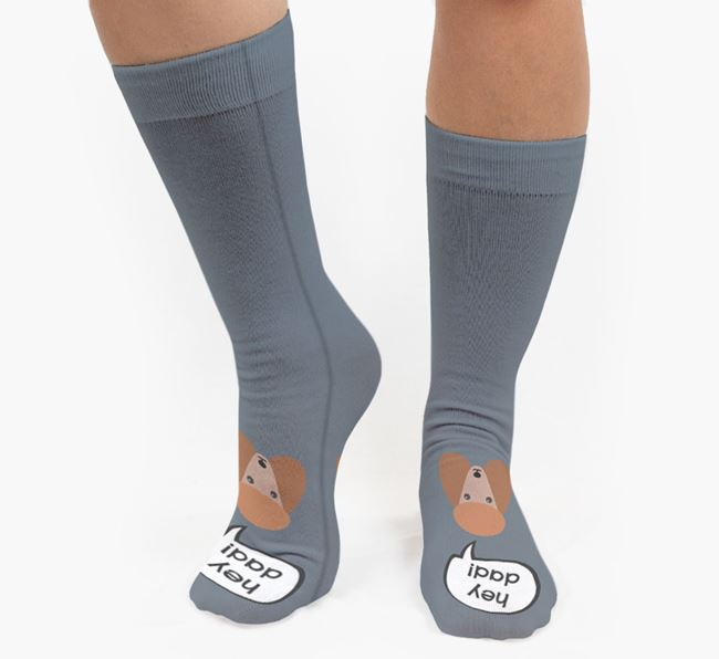 'Hey Dad!' Socks with Poodle Icon