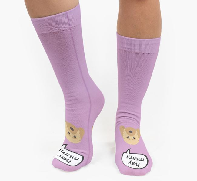 'Hey Mum!' Socks with Dog Icon