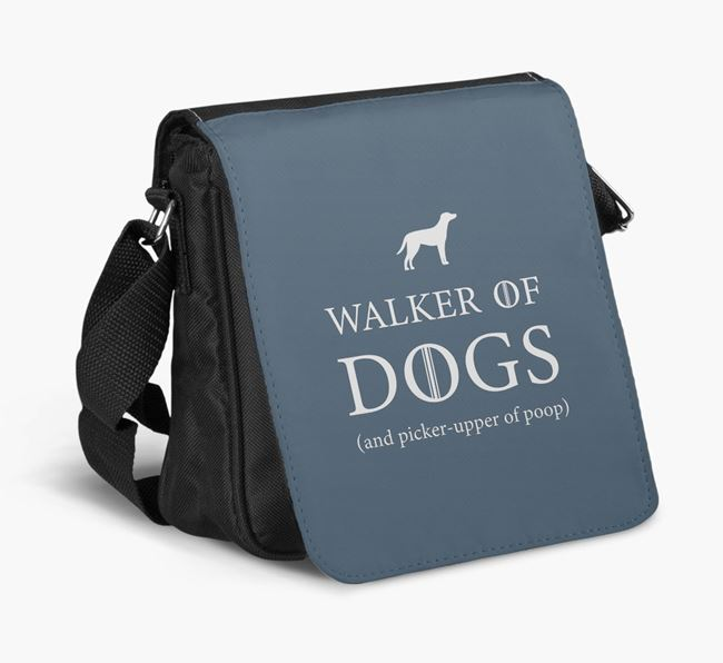 Shoulder Bag 'Walker of Dogs' with Blue Lacy Silhouette