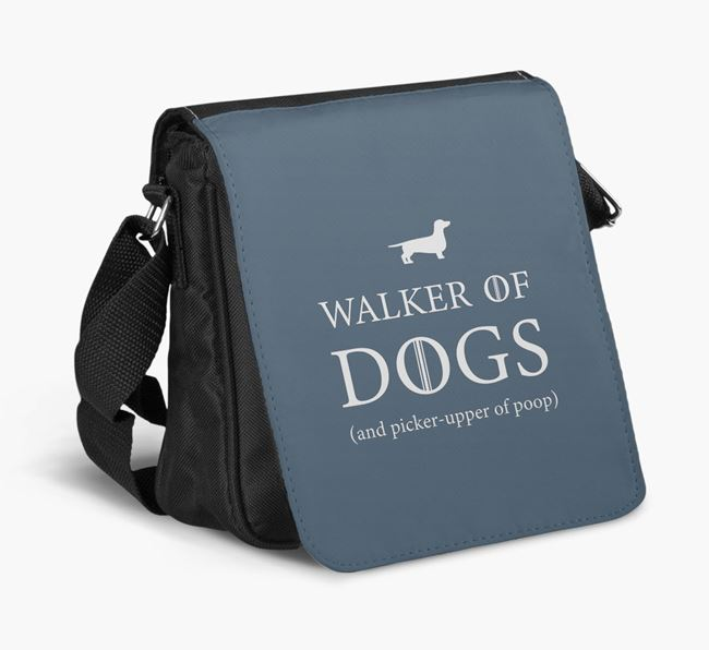 Shoulder Bag 'Walker of Dogs' with Dachshund Silhouette