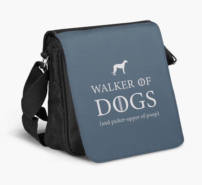 Shoulder Bag 'Walker of Dogs' with Whippet Silhouette