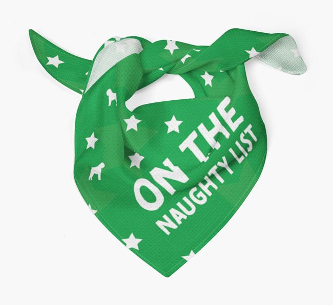 'On the Naughty List' Christmas Bandana for your Bouvier Des Flandres