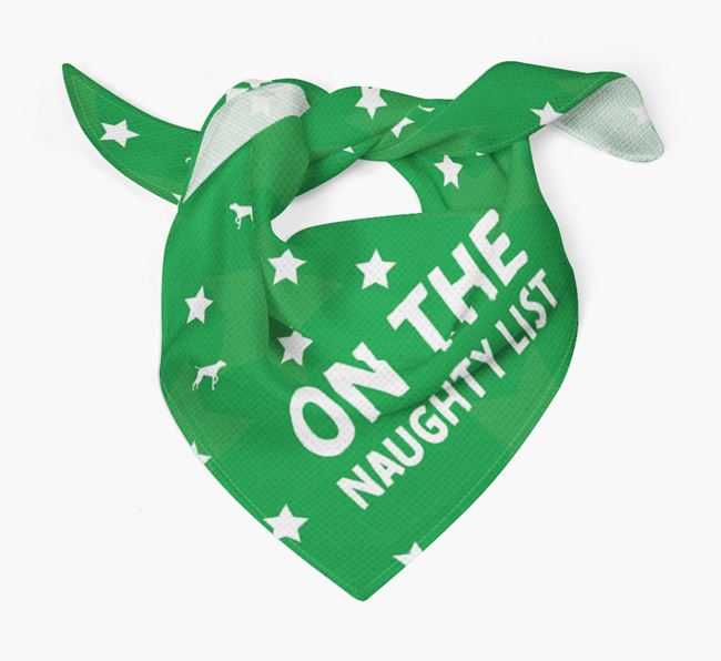'On the Naughty List' Christmas Bandana for your Pointer