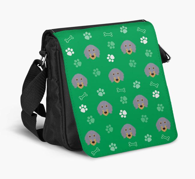 Shoulder Bag with Paw Pattern and Dachshund Icons