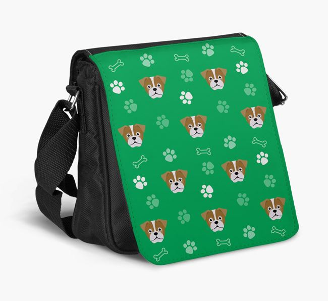 Shoulder Bag with Paw Pattern and Jug Icons