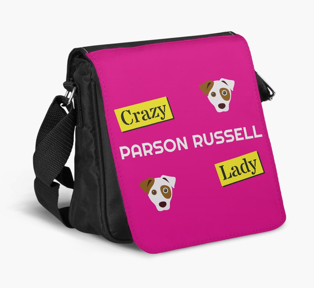 Crazy Dog Lady Shoulder Bag side view