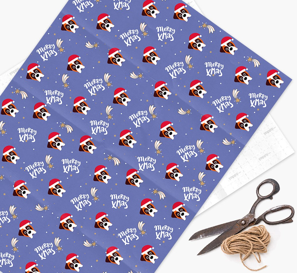 'Merry X-Mas' Wrapping Paper for your Boxer