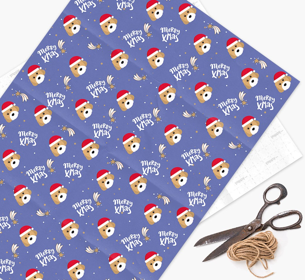 'Merry X-Mas' Wrapping Paper for your Cavachon