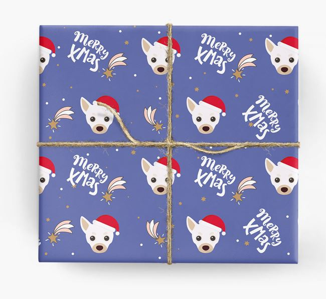 'Merry X-Mas' Wrapping Paper for your Chihuahua