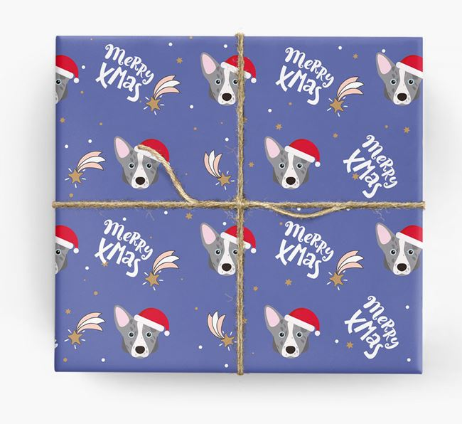 'Merry X-Mas' Wrapping Paper for your Corgi