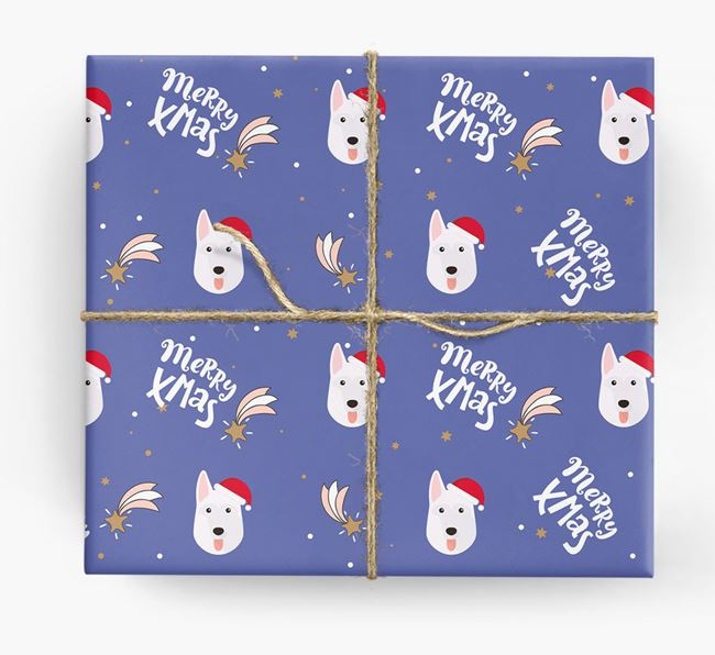 'Merry X-Mas' Wrapping Paper for your German Shepherd