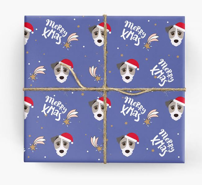'Merry X-Mas' Wrapping Paper for your Jack-A-Poo