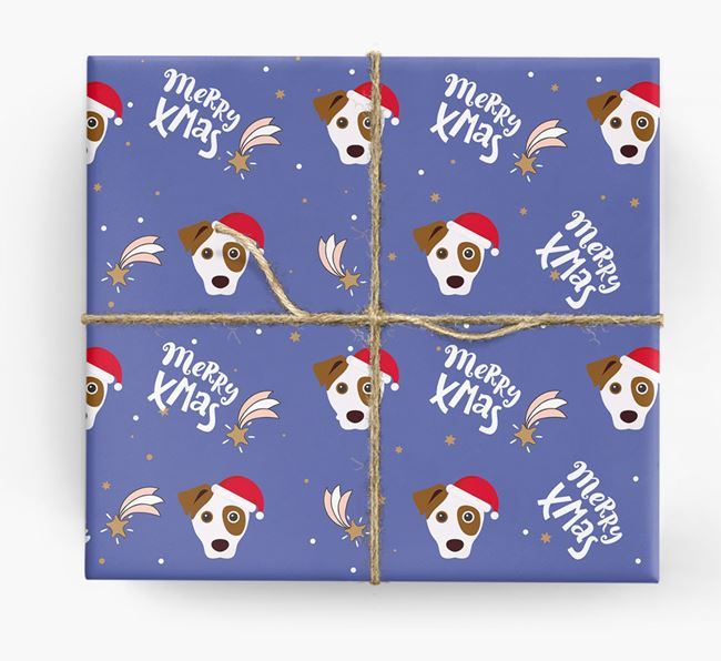 'Merry X-Mas' Wrapping Paper for your Dog