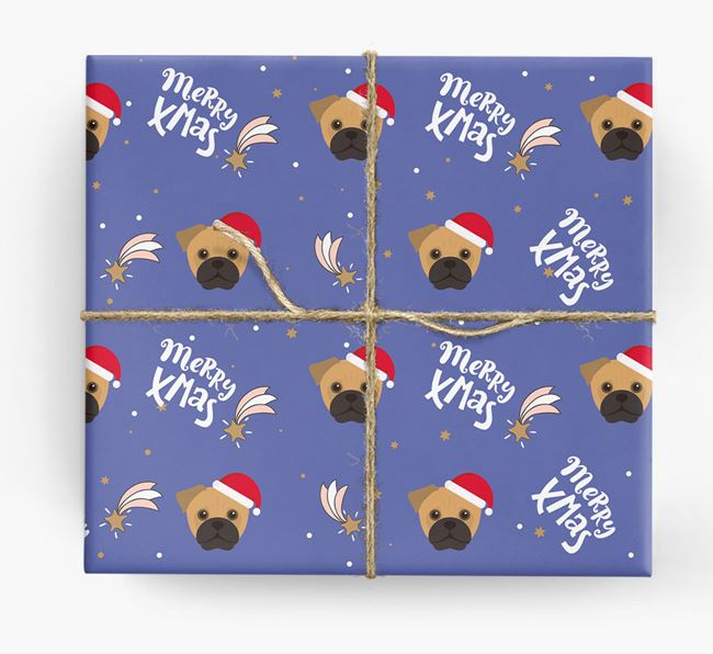 'Merry X-Mas' Wrapping Paper for your Jug