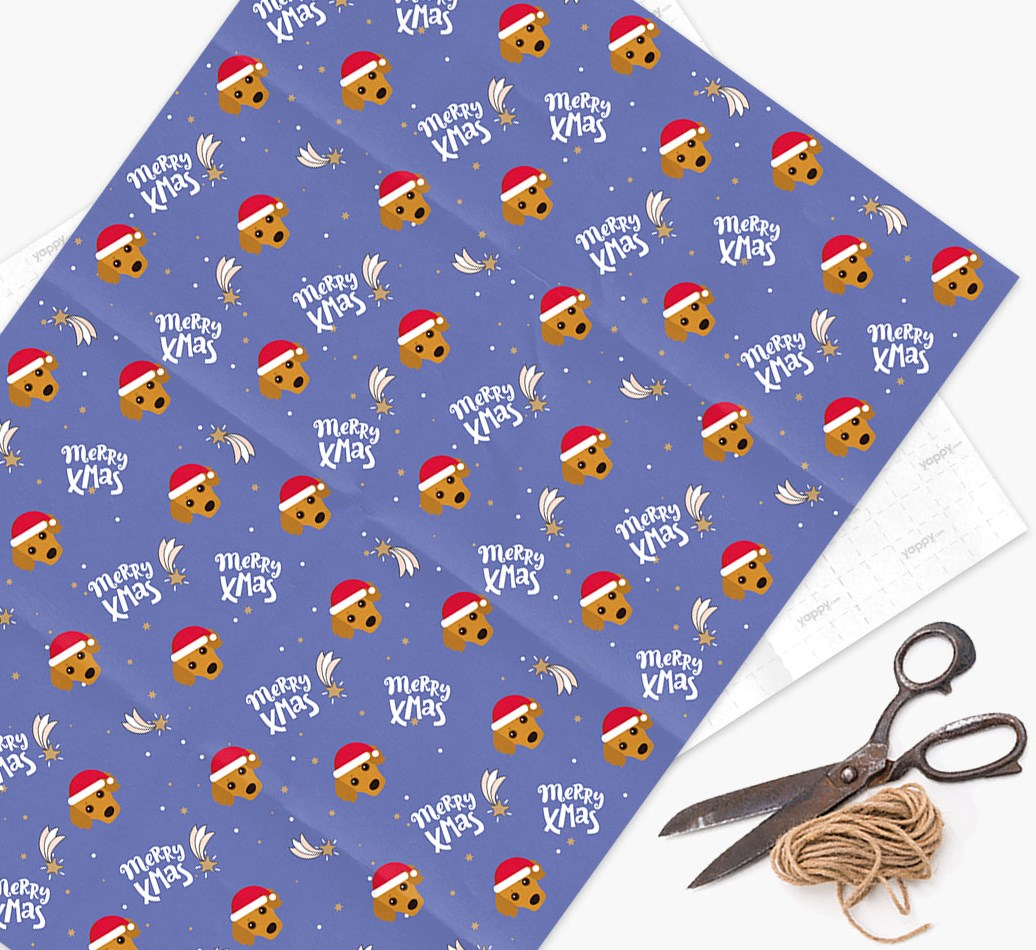 'Merry X-Mas' Wrapping Paper for your Kokoni
