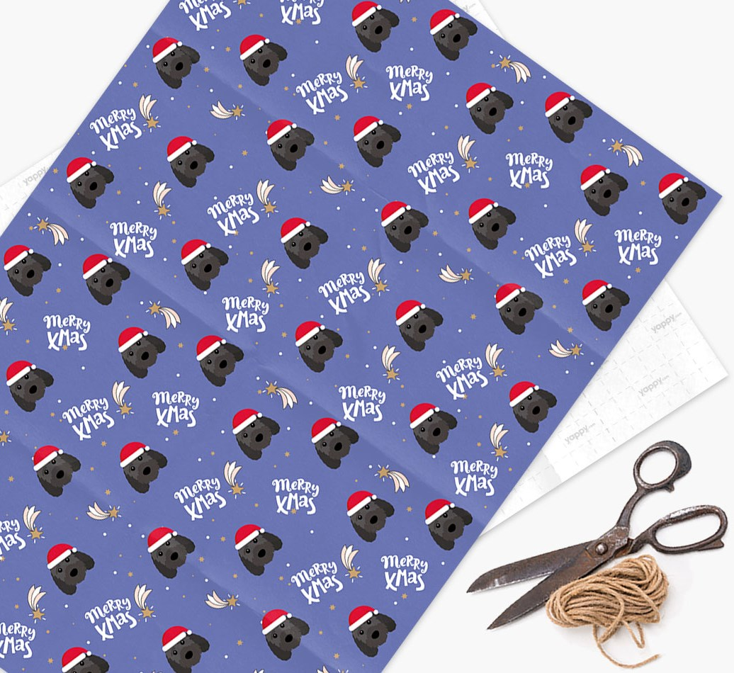 'Merry X-Mas' Wrapping Paper for your Sproodle