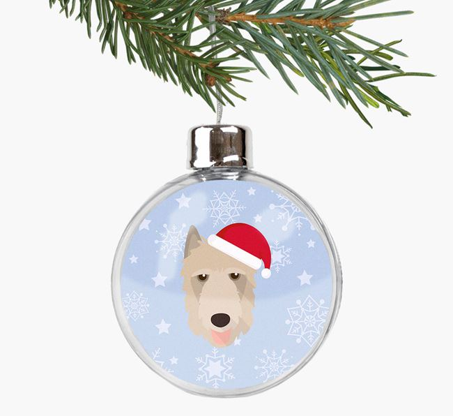 Fillable Bauble with your Belgian Laekenois Christmas Icon