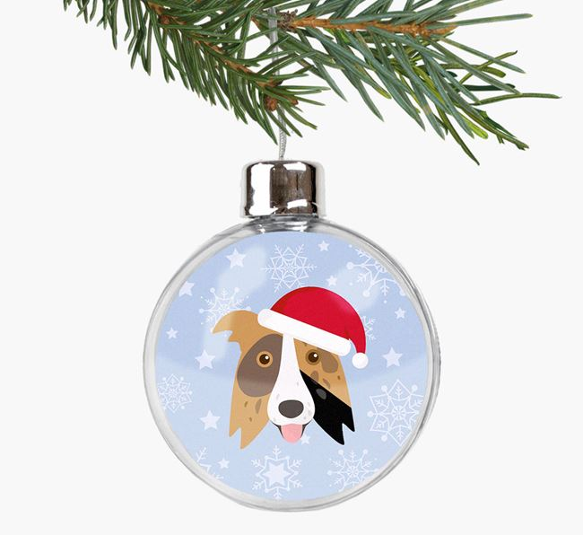 Fillable Bauble with your Border Collie Christmas Icon