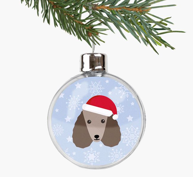 Fillable Bauble with your Poodle Christmas Icon