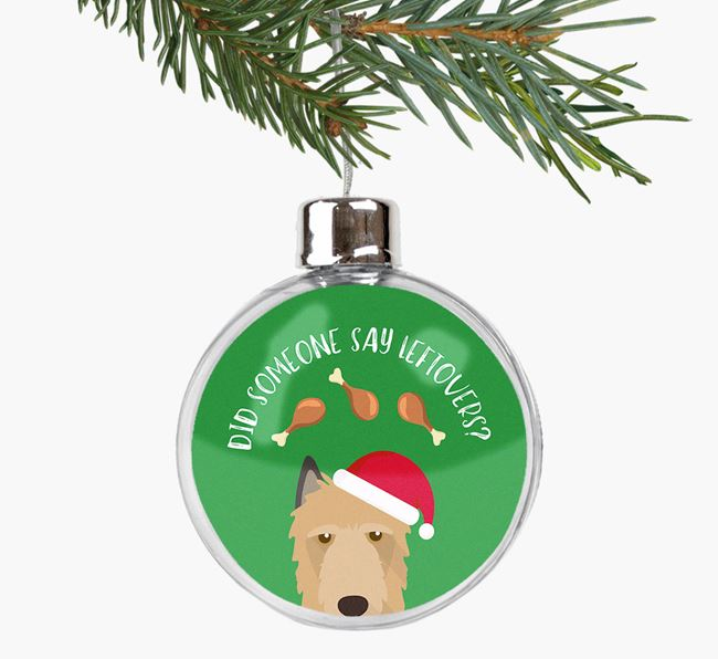 Fillable Bauble 'Leftovers' with your Belgian Laekenois Christmas Icon
