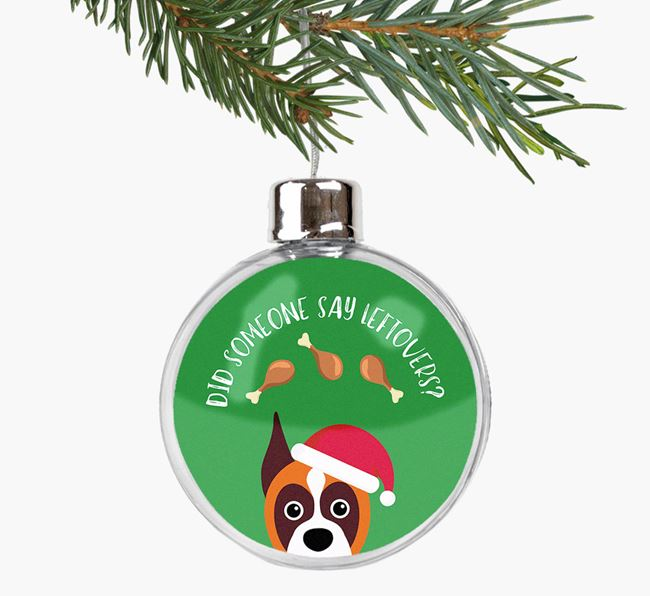 Fillable Bauble 'Leftovers' with your Boxer Christmas Icon