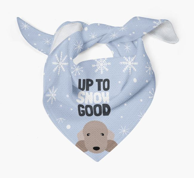 'Up to Snow Good' Christmas Bandana for your Bedlington Terrier