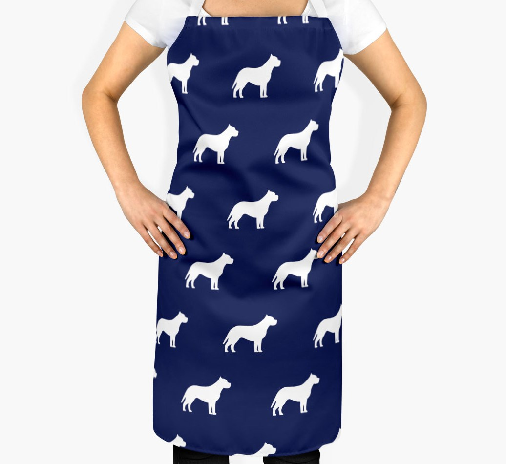 American Pit Bull Terrier Silhouette Apron - 2