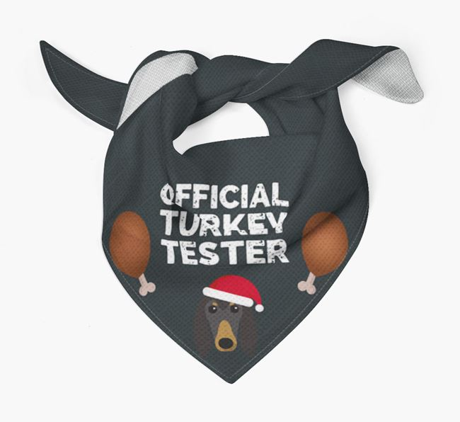 'Official Turkey Tester' Christmas Bandana with Afghan Hound Icon