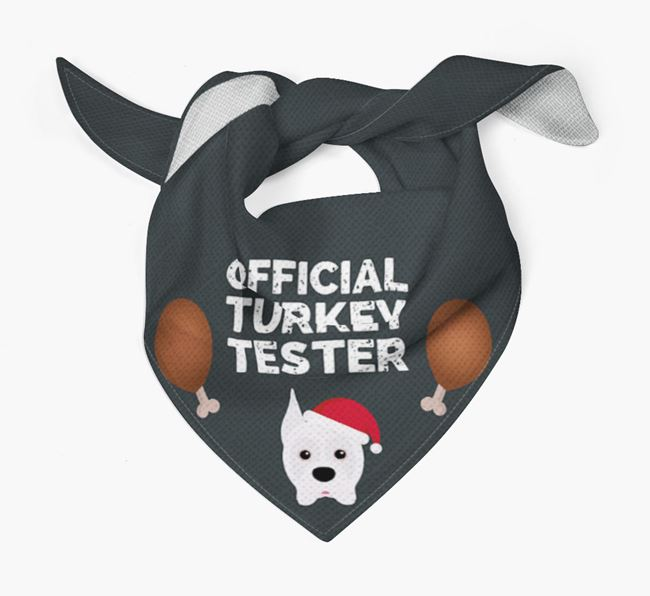 'Official Turkey Tester' Christmas Bandana with Boxer Icon