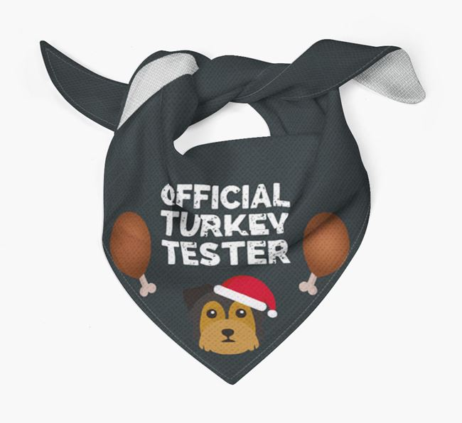 'Official Turkey Tester' Christmas Bandana with Chorkie Icon