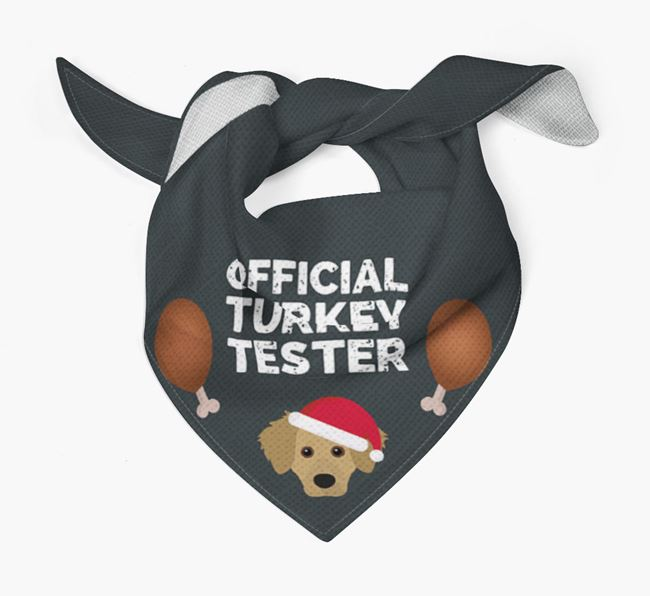 'Official Turkey Tester' Christmas Bandana with Dameranian Icon