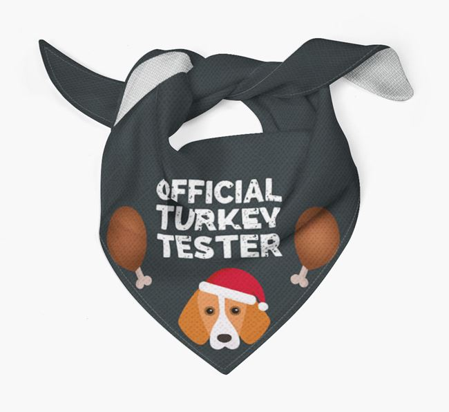 'Official Turkey Tester' Christmas Bandana with Foxhound Icon