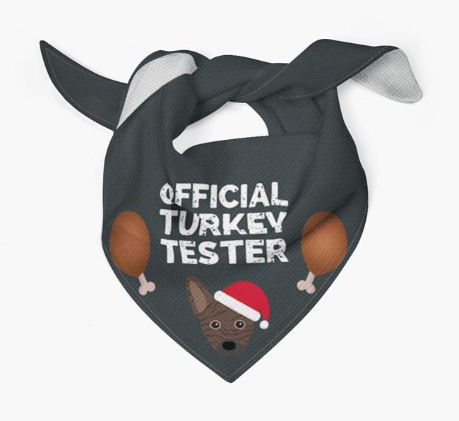 'Official Turkey Tester' Christmas Bandana with French Pin Icon