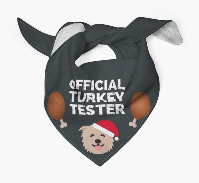 'Official Turkey Tester' Christmas Bandana with Glen Of Imaal Terrier Icon