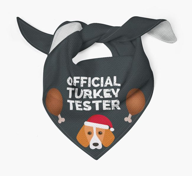 'Official Turkey Tester' Christmas Bandana with Harrier Icon