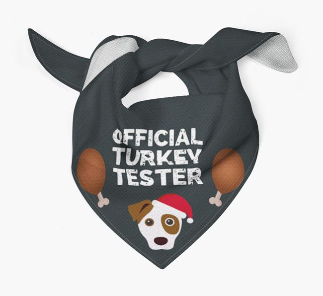 'Official Turkey Tester' Christmas Bandana with Dog Icon