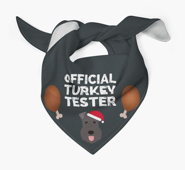 'Official Turkey Tester' Christmas Bandana with Kerry Blue Terrier Icon