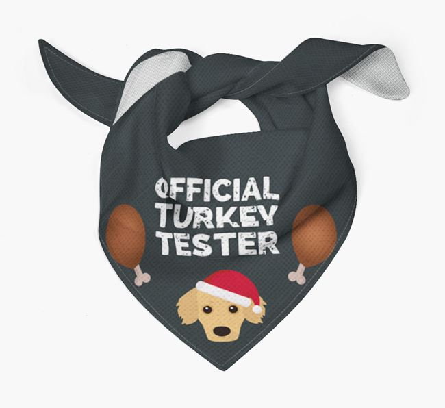 'Official Turkey Tester' Christmas Bandana with Kokoni Icon