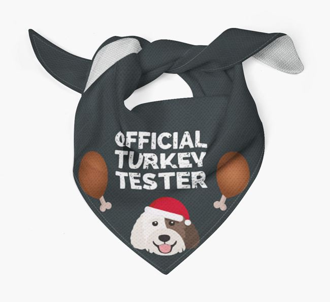 'Official Turkey Tester' Christmas Bandana with Labradoodle Icon