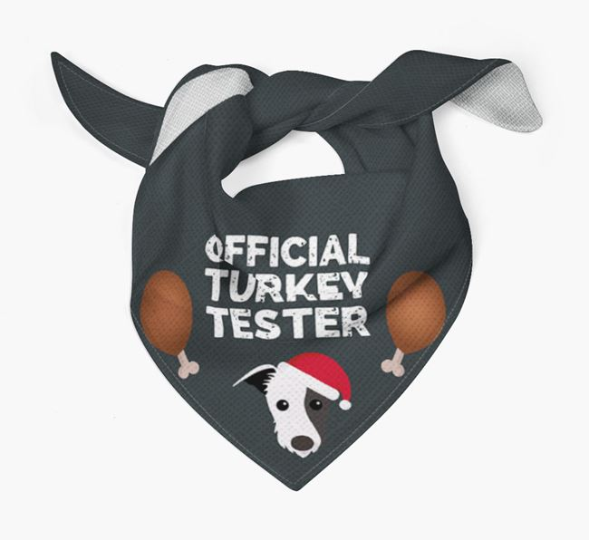 'Official Turkey Tester' Christmas Bandana with Lurcher Icon